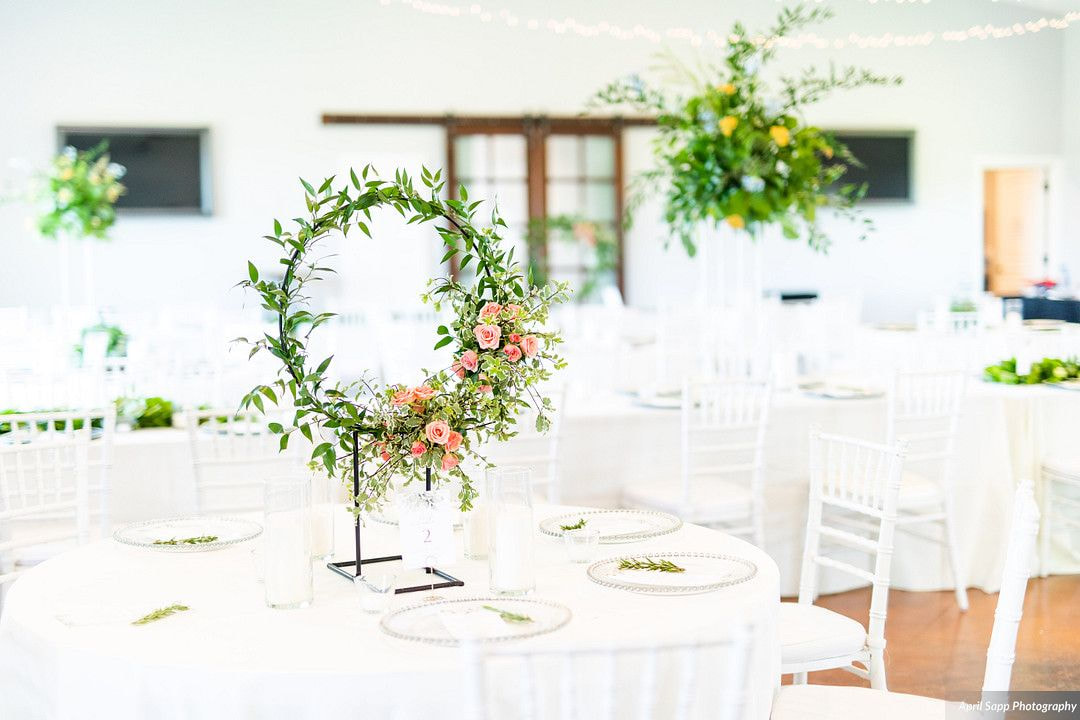 Reception hall in North Texas by April Sapp Photography