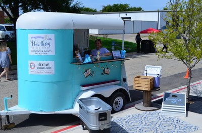 Denton half pint mobile bar and trailer at monroe pearson