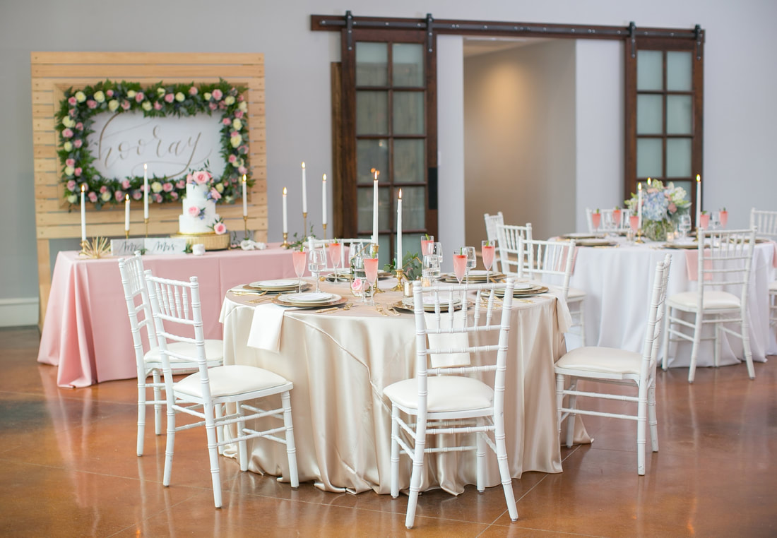 Reception set-up photo by Haley Katherine Photography